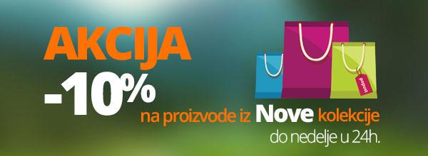 Akcija 10 posto popusta na nove proizvode