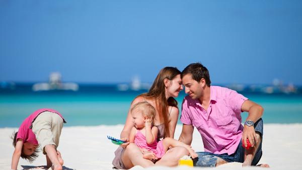 Porodica na plaži