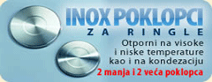 Inox poklopci za ringle